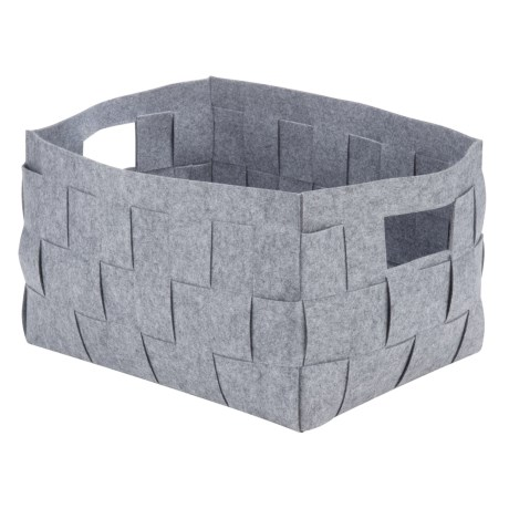 Honey Can Do Woven Felt Bin - Extra-Large in Gray