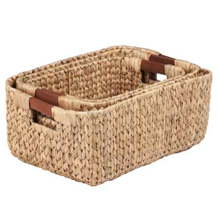 Honey Can Do Woven Nesting Baskets - Set of 3 in Natural - Closeouts