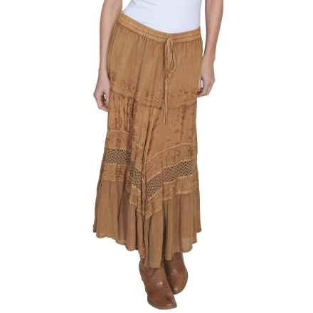 Honey Creek Embroidered Rayon Skirt (For Women) in Beige - Closeouts