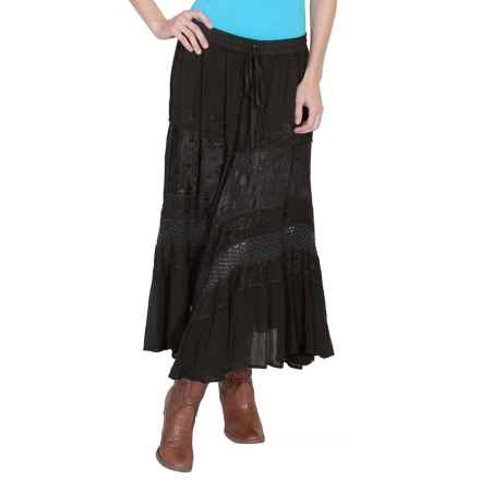 Honey Creek Embroidered Rayon Skirt (For Women) in Black - Closeouts