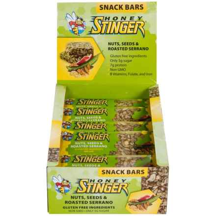 Honey Stinger Cran-apple and Walnut Snack Bars - Box of 15 Bars in Nuts, Seeds And Roasted Serrano - Closeouts