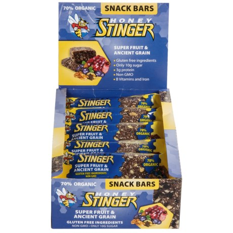 Honey Stinger Cran-apple and Walnut Snack Bars - Box of 15 Bars in Super Fruit And Ancient Grain