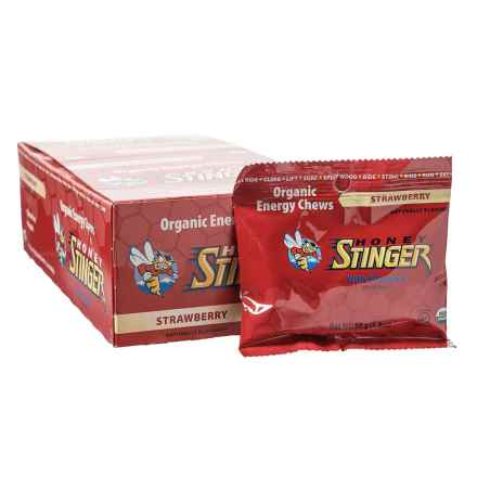 Honey Stinger Organic Energy Chews - Box of 12 in Strawberry - Closeouts