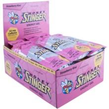 Honey Stinger Organic Energy Gels - 24-Pack in Strawberry Kiwi Caffeinated - Closeouts