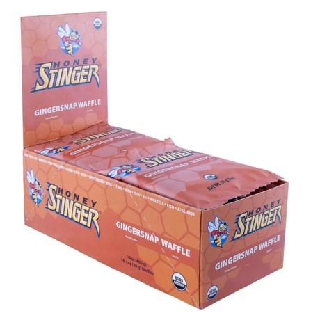 Honey Stinger Organic Energy Waffle - Box of 16 in Gingersnap