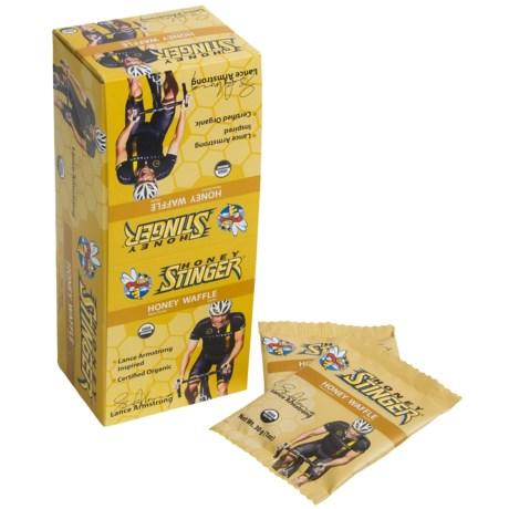 Honey Stinger Organic Energy Waffle - Box of 16 in Strawberry