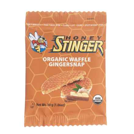 Honey Stinger Organic Energy Waffles - Box of 16 in Gingersnap - Closeouts