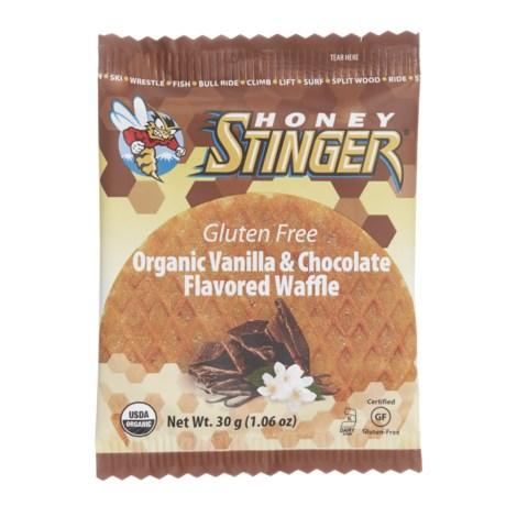 Honey Stinger Organic Gluten-Free Energy Waffles - Box of 16 in Vanilla Chocolate