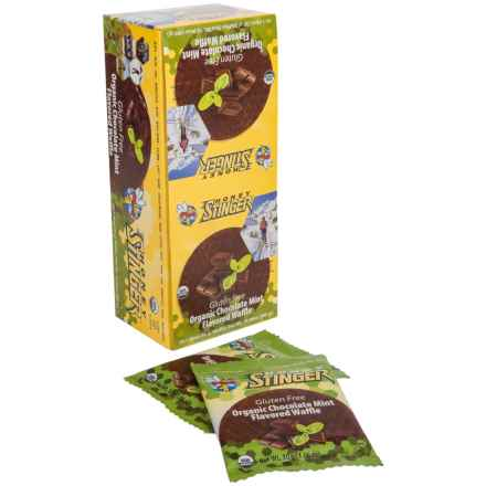Honey Stinger Organic Gluten-Free Waffles - Box of 16 in Chocolate Mint - Closeouts