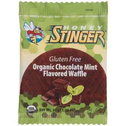 Honey Stinger Organic Wildflower Honey Waffle - Gluten-Free, Single Serving in Chocolate Mint - Closeouts