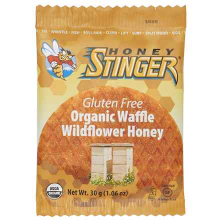 Honey Stinger Organic Wildflower Honey Waffle - Gluten-Free, Single Serving in Wildflower Honey - Closeouts