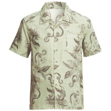 Honolua Lifestyle Floral Print Shirt - Short Sleeve (For Men) in Sea Spray - Closeouts
