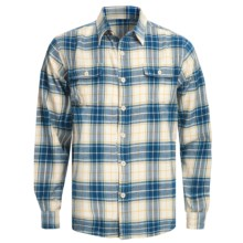 Honolua Maoli Twill Flannel Shirt - Long Sleeve (For Men) in Sea - Closeouts