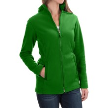 Hooded Fleece Parka (For Women) in Green - 2nds