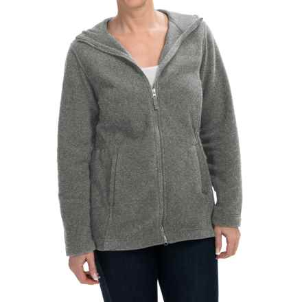 Hooded Fleece Parka (For Women) in Grey - 2nds