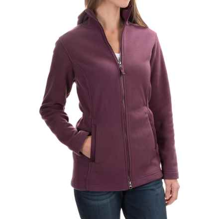 Hooded Fleece Parka (For Women) in Maroon - 2nds