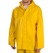 Hooded Rain Jacket - Waterproof (For Men) in Yellow - Closeouts