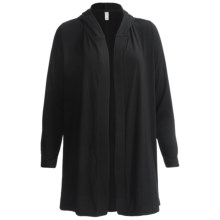 Hooded Robe - Long Sleeve (For Women) in Black - 2nds