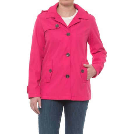 Image of Hooded Topper Jacket - Button Front (For Women)