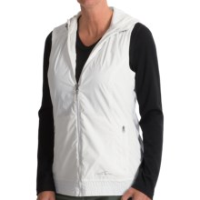 Hooded Windbreaker Vest (For Women) in White - 2nds