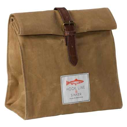 Hook Line & Sinker Lunch Bag in Tan - Closeouts