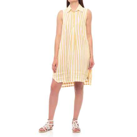 Hope & Harlow Lindsey Stripe IV Dress - Sleeveless (For Women) in Yellow Jasmine/Whtie - Closeouts