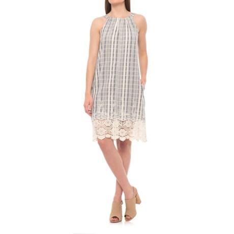 Hope & Harlow Riverdale Striped Dress- Sleeveless (For Women) in Pale Blue/Cream
