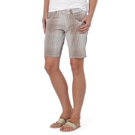 Horny Toad Birdwalk Shorts - Yarn-Dyed Cotton (For Women) in Walnut