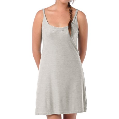 Horny Toad Double Helix Foxtrot Dress - Reversible, Organic Cotton-Modal (For Women) in Light Gray Heather