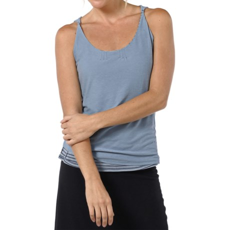 Horny Toad Double Helix Tank Top - Organic Cotton-Modal (For Women) in Atlantis