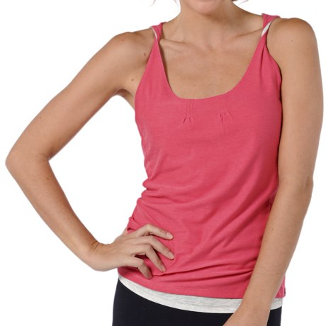 Horny Toad Double Helix Tank Top - Organic Cotton-Modal (For Women) in Geranium