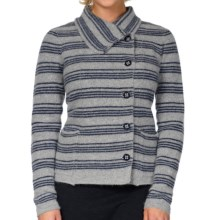 Horny Toad Heartfelt Sweater (For Women) in Bright Navy Stripe - Closeouts