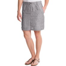 Horny Toad Lithe Venti Skirt - Linen (For Women) in Smoke - Closeouts