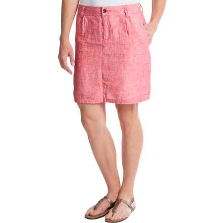 Horny Toad Lithe Venti Skirt - Linen (For Women) in Watermelon - Closeouts