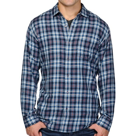Horny Toad Mixologist Plaid Shirt - Long Sleeve (For Men) in After Midnight