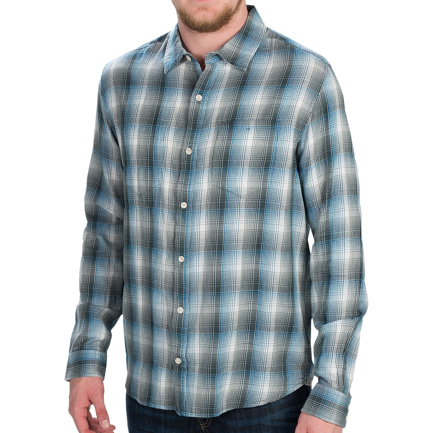 Horny toad mixologist plaid shirt for men 5916y save 62 for Plaid shirt long sleeve