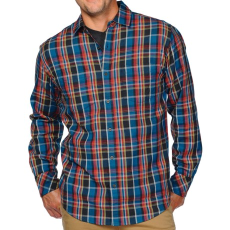 Horny Toad Mojo Flannel Shirt - Organic Cotton, Long Sleeve (For Men) in Marlin