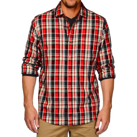 Horny Toad Mojo Flannel Shirt - Organic Cotton, Long Sleeve (For Men) in Red Wagon