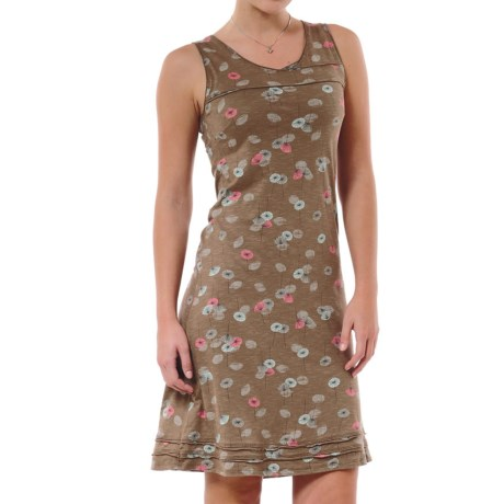 Horny Toad Oolong Stretch Dress - TENCEL®, Sleeveless (For Women) in Clove Print