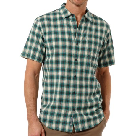 Horny Toad Open Air Shirt - Organic Cotton, Short Sleeve (For Men) in Deep Bluegreen