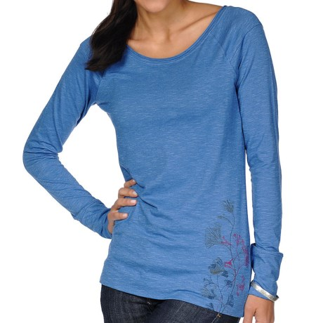 Horny Toad Rollick T-Shirt - Organic Cotton, Long Sleeve (For Women) in Lapis