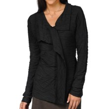 Horny Toad Samba Wave Wrap Shirt - Long Sleeve (For Women) in Black - Closeouts