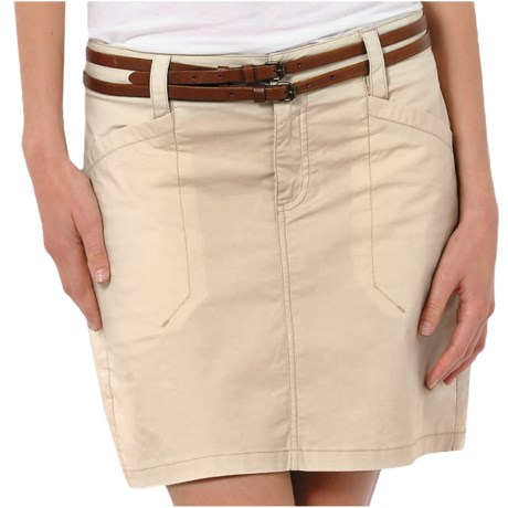 Horny Toad Sidekick Skirt - Stretch Cotton (For Women) in Oatmeal