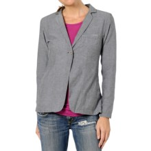 Horny Toad Single-Button Chamblazer Jacket - Featherweight Cotton-Polyester (For Women) in Charcoal - Closeouts