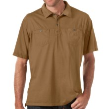 Horny Toad Smooth Polo Shirt - Short Sleeve (For Men) in Honey Brown - Closeouts