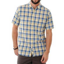 Horny Toad Smythy Plaid Shirt - Short Sleeve (For Men) in Bright Navy - Closeouts