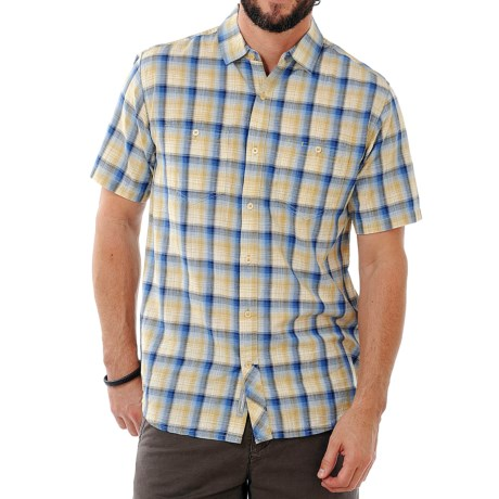 Horny Toad Smythy Plaid Shirt - Short Sleeve (For Men) in Bright Navy