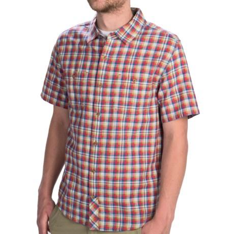 Horny Toad Smythy Plaid Shirt - Short Sleeve (For Men) in Marlin