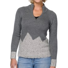 Horny Toad Snowbourn Sweater - Merino Wool, Zip Neck (For Women) in Heather Gray - Closeouts