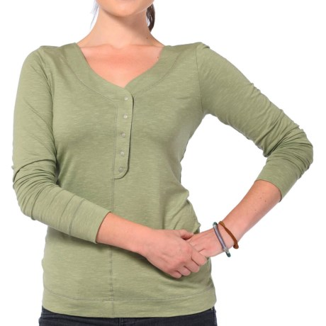 Horny Toad Sonja Henley Shirt - Organic Cotton, Long Sleeve (For Women) in Caper